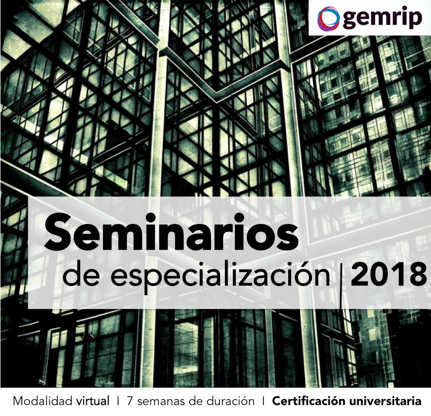 Seminarios de especialización 2018