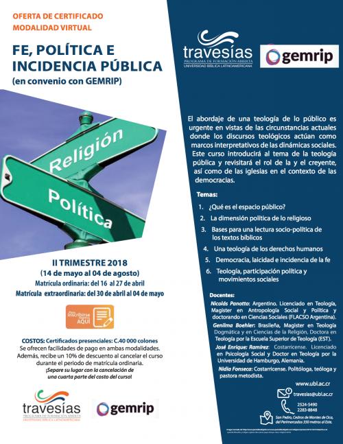 Estudiá nuestro Certificado «Fe, política e incidencia pública»