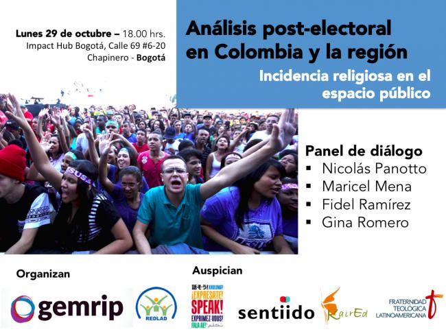 Panel en Bogotá sobre incidencia religiosa en contextos post – electorales