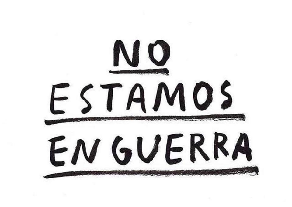 No estamos en guerra: declaración frente a la situación en Chile